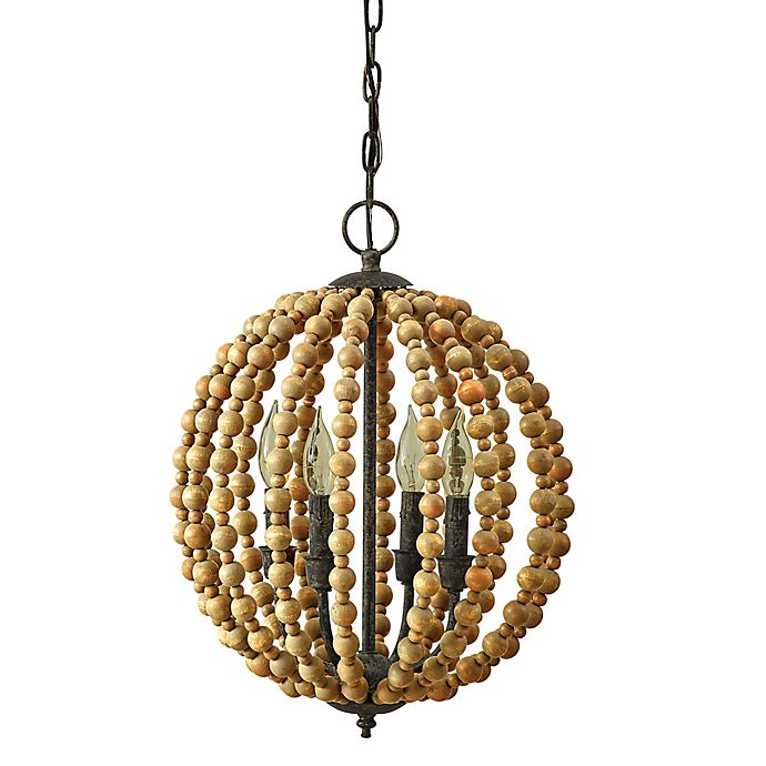 Alternate image 1 for Bee & Willow™ Home 4-Light Downrod Mount Chandelier