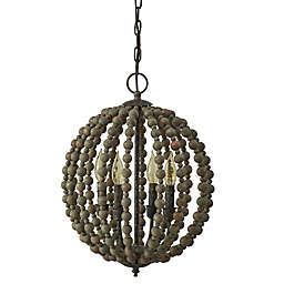 Bee & Willow™ Sequoia Beaded Chandelier in Grey