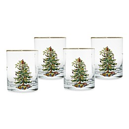 Spode® Christmas Tree 14 oz. Double Old Fashioned Glasses (Set of 4)
