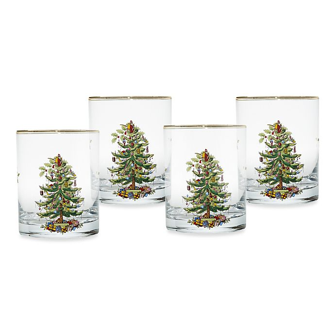 Spode® Christmas Tree 14 oz. Double Old Fashioned Glasses ...