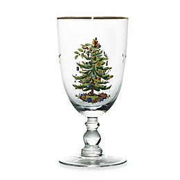 Spode® Christmas Tree 16-Ounce Goblets (Set of 4)