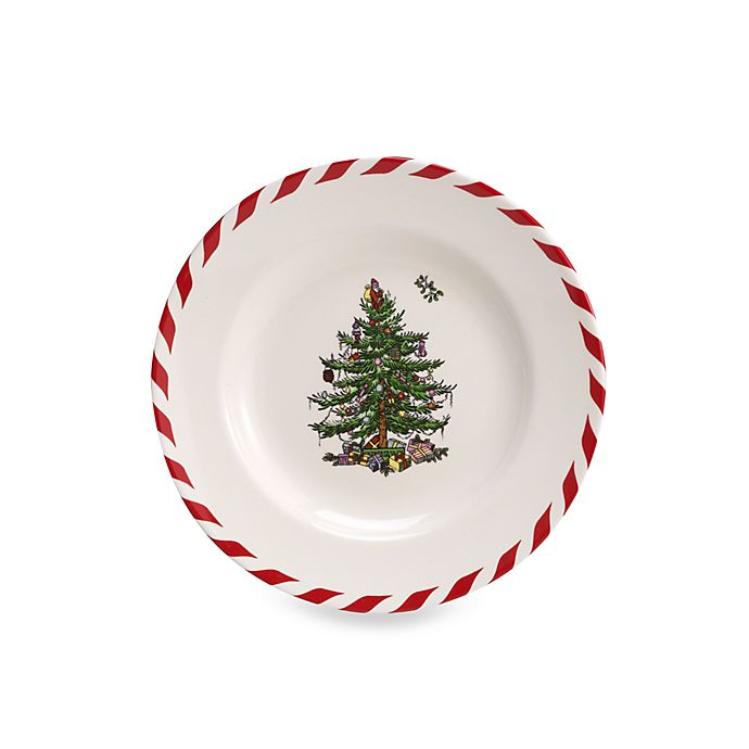Spode Christmas Tree China Sale: Spode® Christmas Tree Peppermint Canape Plates (Set Of 4