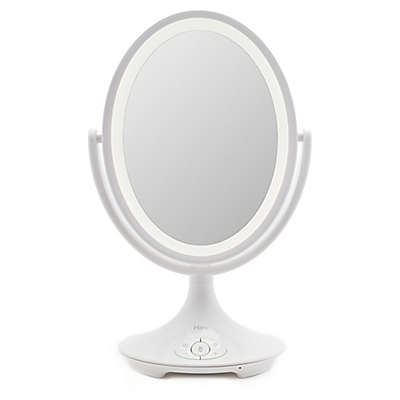iHome Bluetooth Double-Sided Vanity Mirror in White