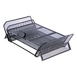 Allsop® DeskTek Monitor Stand with Storage Areas in Black