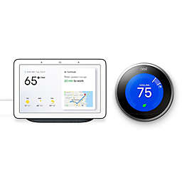 Google Nest Hub and Google Nest Learning Gen 3 Thermostat Bundle