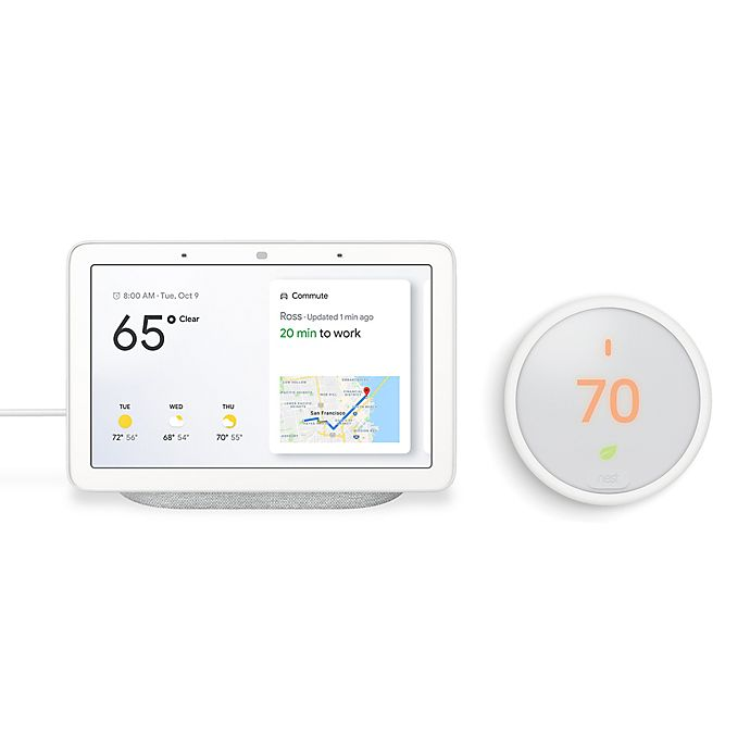 Alternate image 1 for Google Home Hub and Nest® Thermostat E Bundle in Chalk