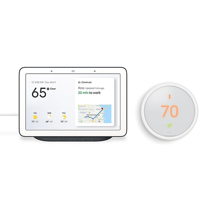 Alternate image 1 for Google Home Hub and Nest® Thermostat E Bundle in Charcoal