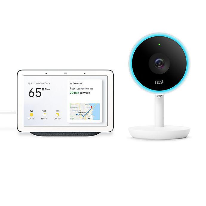 Alternate image 1 for Google Home Hub and Nest® Cam IQ Indoor Security Camera Bundle