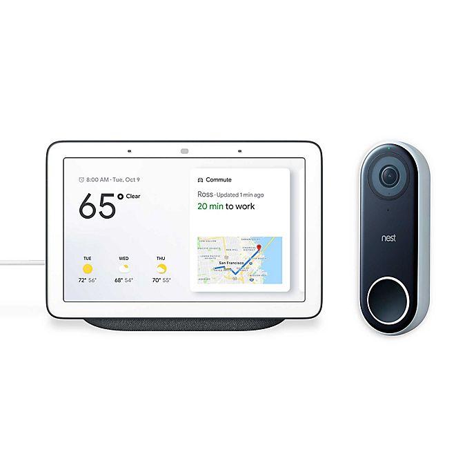 Alternate image 1 for Google Home Hub with Nest® Hello Video Doorbell Bundle