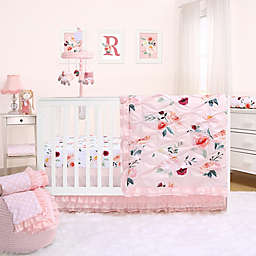 The Peanutshell™ Rose Crib Bedding Collection