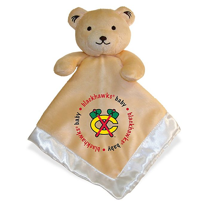 Alternate image 1 for Baby Fanatic® NHL Chicago Blackhawks Security Bear in Tan/Silver