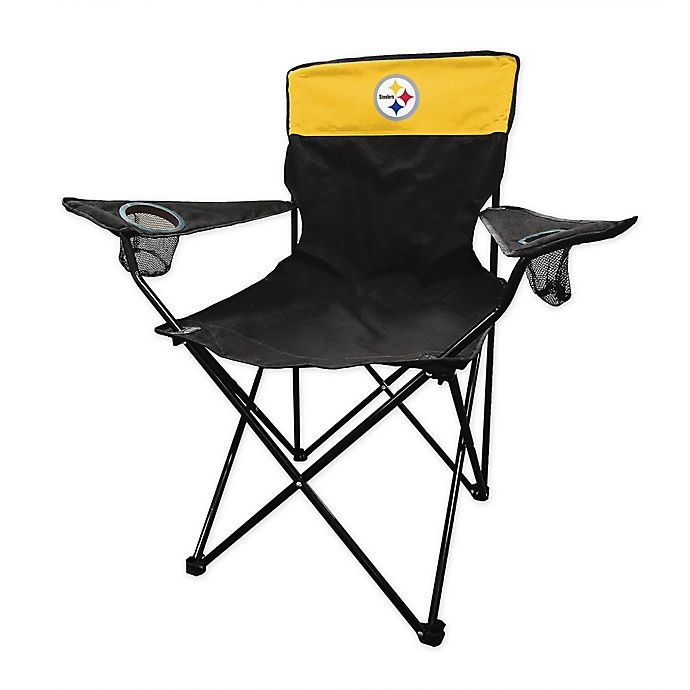Excellent Nfl Pittsburgh Steelers Legacy Folding Chair Bed Bath Beyond Customarchery Wood Chair Design Ideas Customarcherynet