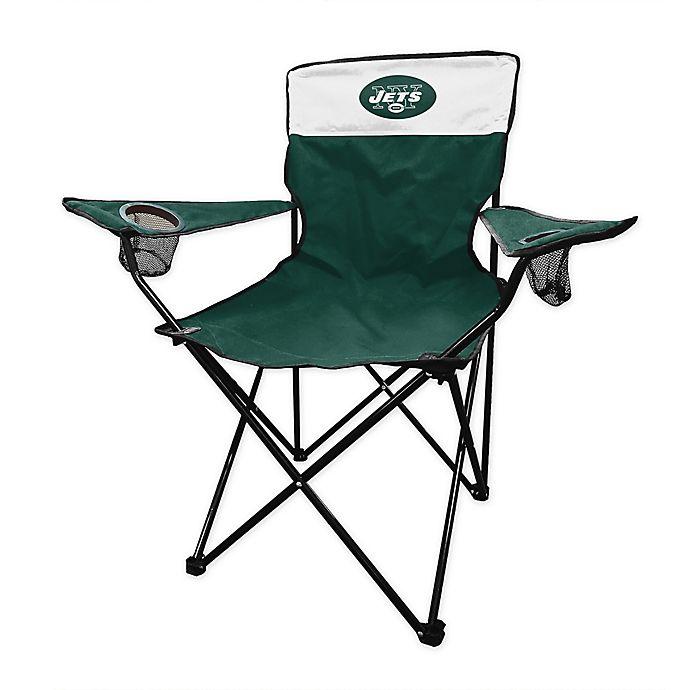 Sensational Nfl New Yorks Jets Legacy Folding Chair Bed Bath Beyond Beatyapartments Chair Design Images Beatyapartmentscom