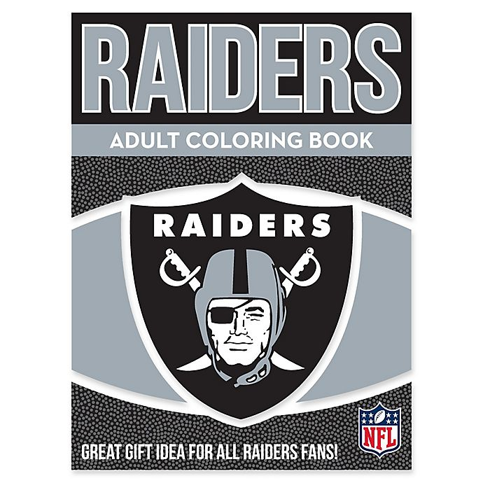 Nfl Oakland Raiders Adult Coloring Book Bed Bath Beyond