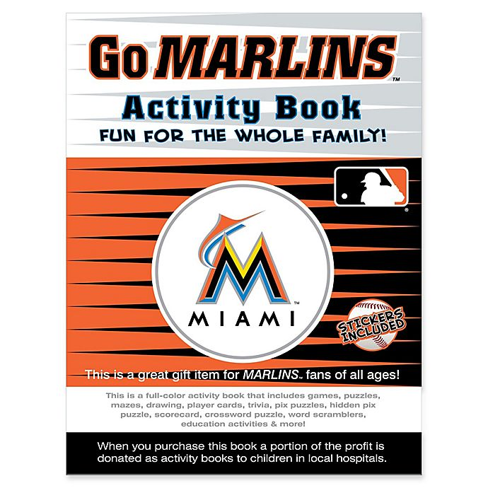 Alternate image 1 for MLB Go Miami Marlins Activity Book