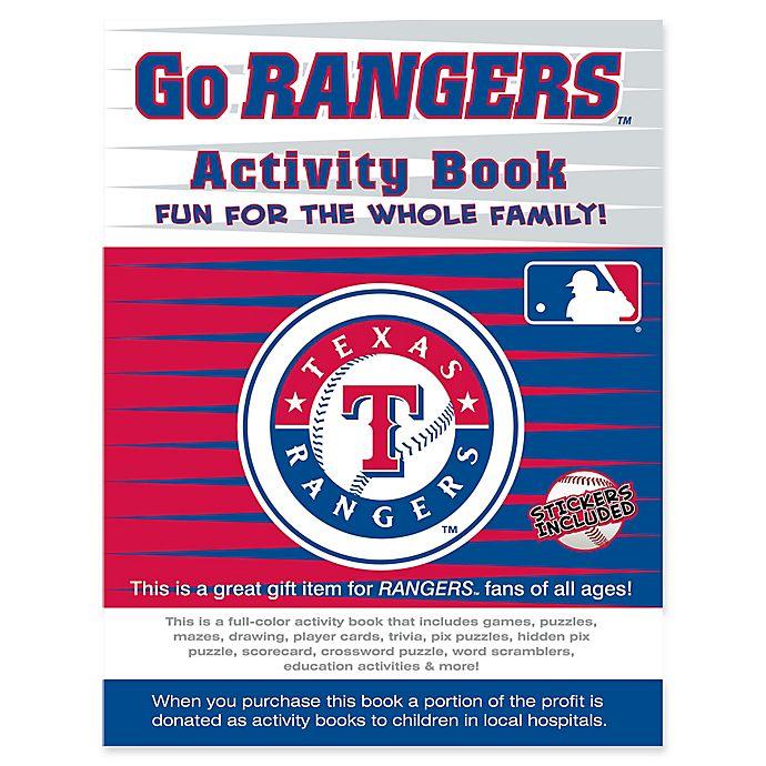 Alternate image 1 for MLB Go Texas Rangers Activity Book