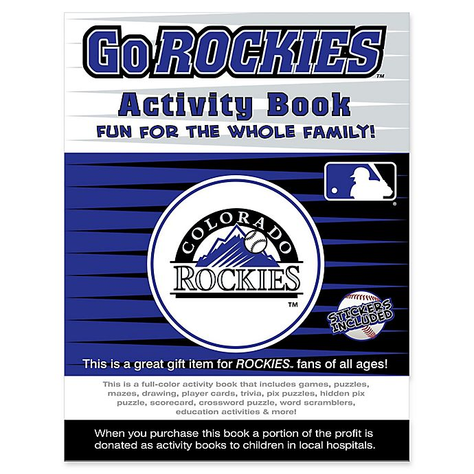 Alternate image 1 for MLB Go Colorado Rockies Activity Book