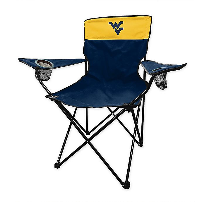 Alternate image 1 for West Virginia University Legacy Folding Chair in Navy
