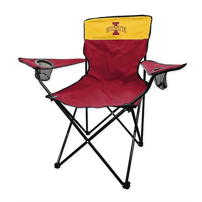 Alternate image 1 for Iowa State University Legacy Folding Chair in Cardinal