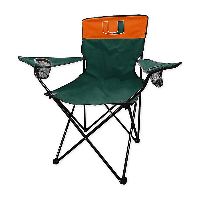 Alternate image 1 for University of Miami Legacy Folding Chair in Hunter