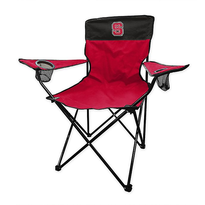 Alternate image 1 for North Carolina State University Legacy Folding Chair in Red