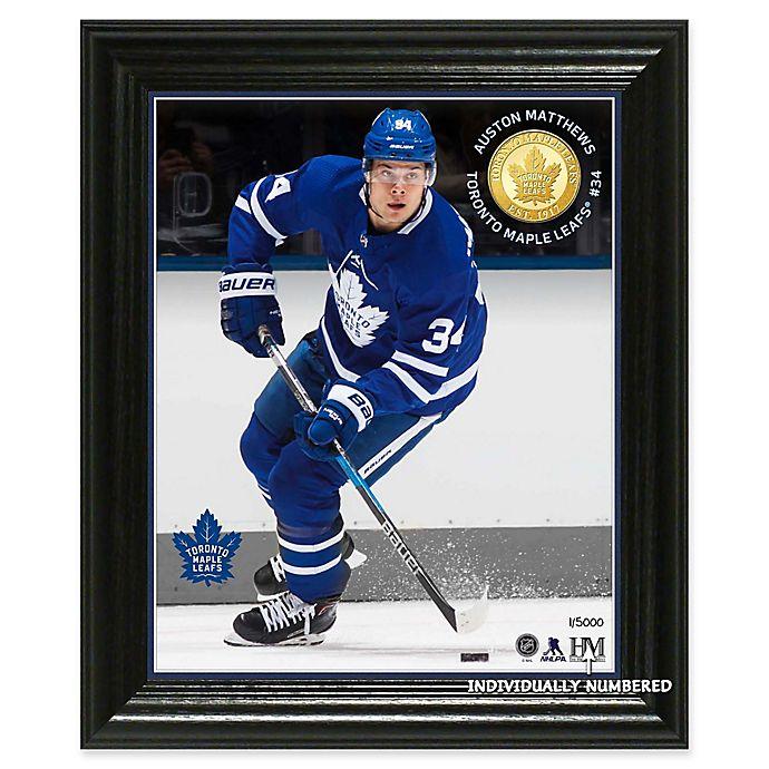 Alternate image 1 for NHL Toronto Maple Leafs Auston Matthews Bronze Coin Photo Mint