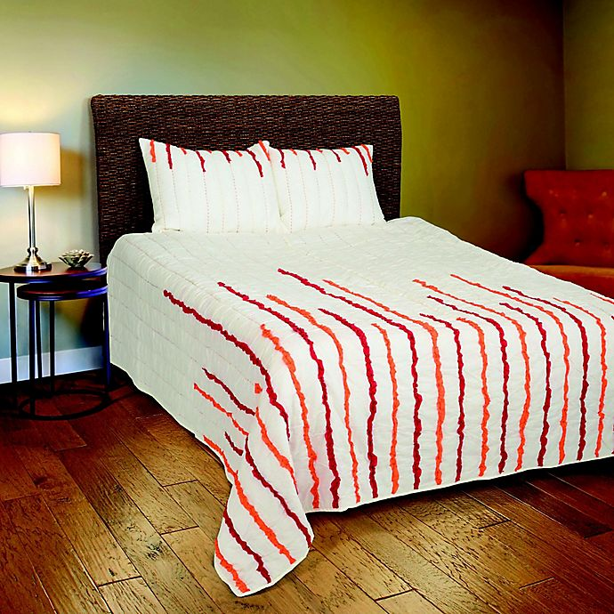 Alternate image 1 for Rizzy Home Stripe Queen Quilt Set in Orange