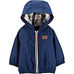 carter's® Size 18M Zip-Up Hooded Jacket in Blue