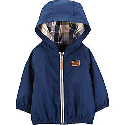 carter's® Zip-Up Hooded Jacket in Blue