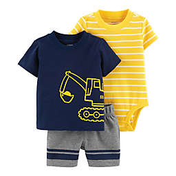 carter's® Construction Truck & Stripe 3-Piece Set