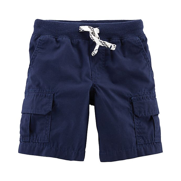 Alternate image 1 for carter's® Pull On Cargo Shorts in Navy