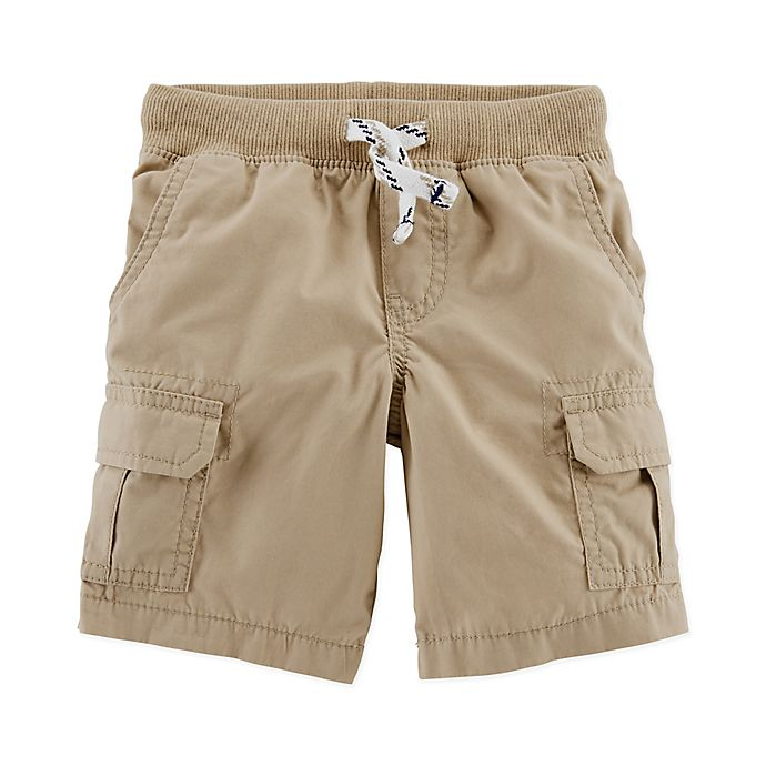 Alternate image 1 for carter's® Pull On Cargo Shorts in Khaki