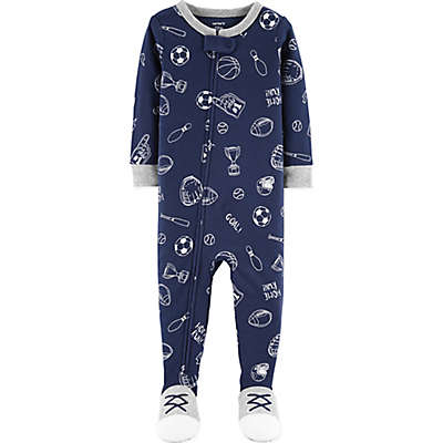 carter's® Sports Footed Pajamas in Navy