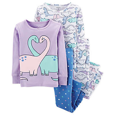 carter's® 4-Piece Dino Pajama Set in Purple