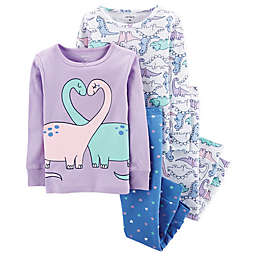 carter's® 4-Piece Dino Pajama Set in Purple