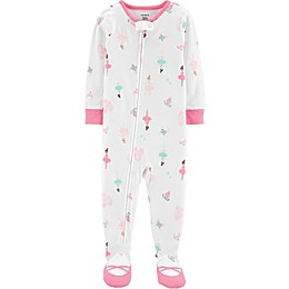 carter's® Ballet Sleep & Play Footie in White