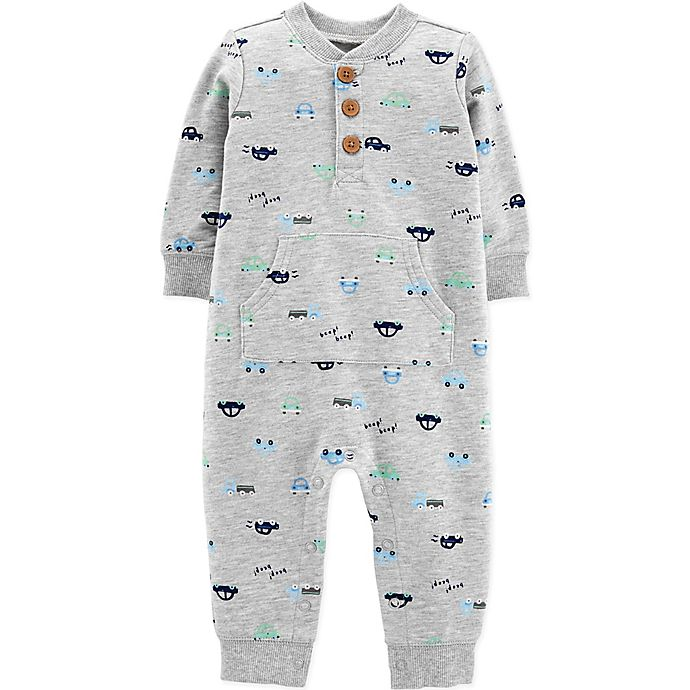 Alternate image 1 for carter's® Car Coverall in Grey