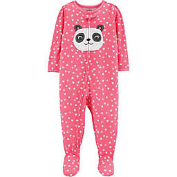carter's® Zip-Front Panda Footie in Pink