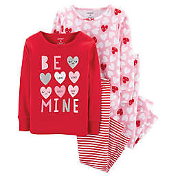 "carter's® 4-Piece ""Be Mine"" Sleepwear Set in Red"