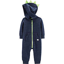 carter's® Hooded Dinosaur Coverall in Navy