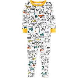 carter's® Cars Footed Pajamas in White