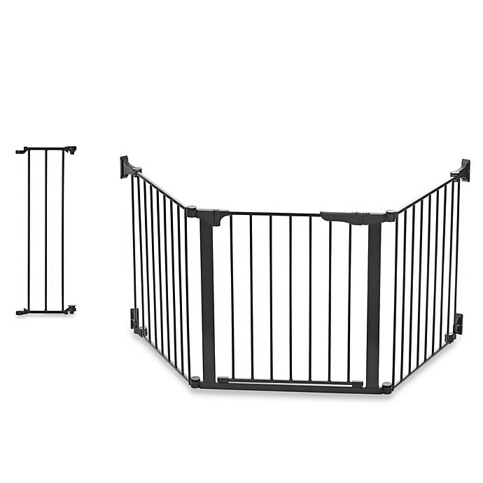 Alternate image 1 for KidCo® Custom Fit Auto Close ConfigureGate in Black