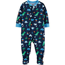 carter's® Dinosaur Footed Pajamas in Navy