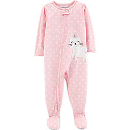 bf4d72aeb4 carter s® Zip-Front Cat Unicorn Footie in Pink
