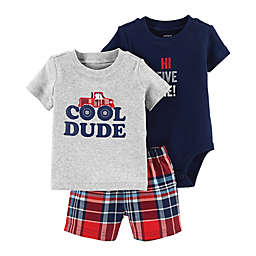 carter's® Cool Dude 3-Piece Set in Grey