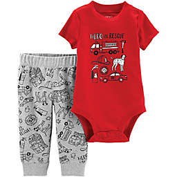 carter's® 2-Piece To The Rescue Bodysuit and Pants Set in Red