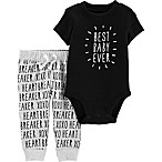 carter's® Size 3M 2-Piece Best Baby Bodysuit and Pants Set in Black