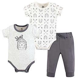 Yoga Sprout 3-Piece Hedgehog Bodysuit & Pants Set