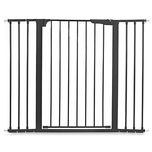 Alternate image 1 for KidCo® Gateway Extra Tall and Wide Auto Close Pressure Mount Gate in Black
