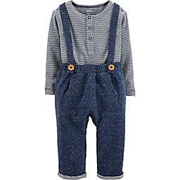 carter's® 2-Piece Henley and Suspenders Set